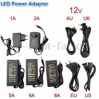 2A 4A 5A 6A 10A Power Supply Charger 12V Transformer 3528 5050 LED Strip Adapter