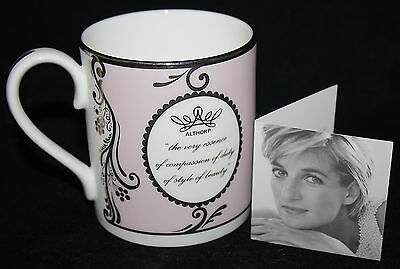 New Unboxed Princess Diana Althorp English Rose Pink Bone China Mug Collectable