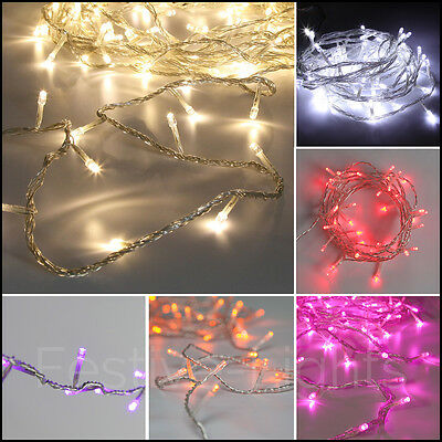 3.2M Indoor Mains Power Xmas Wedding Party Decor Fairy String Wire 40 Led Lights