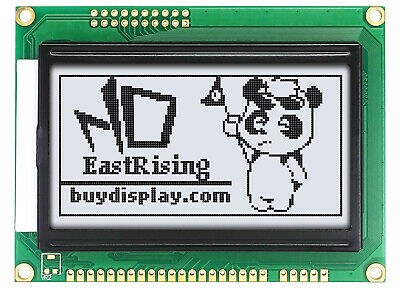 128x64 LCD Module Display LCM,ST7920 Controller,Paraller+Serial white on Black