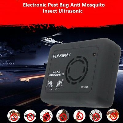 Outdoor Camping Electronic Pest Bug Anti Mosquito Insect Ultrasonic Repeller New