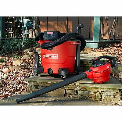 Craftsman 16 Gallon 6.5 Peak HP Detachable Blower Wet/Dry Vac Leaf Shop Vacuum
