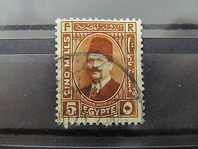 A2P34 EGYPT 1936-37 PERF 13 1/2 5m USED #3