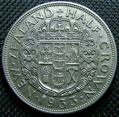 1933 New Zealand, Silver Half Crown