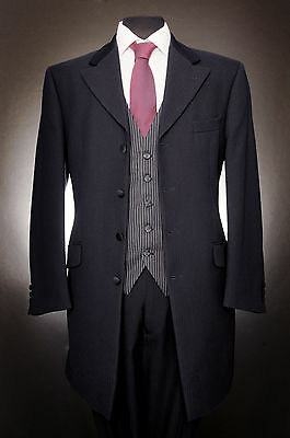 Mj-144 Mens Navy 100% Wool Wilvorst Prince Edward 2Piece Suit Wedding / Formal