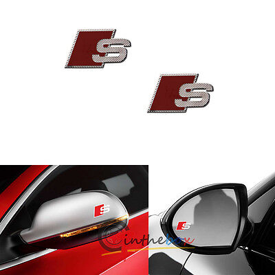 2x audi s line side mirror badge emblem logo sticker a3 a4. Black Bedroom Furniture Sets. Home Design Ideas