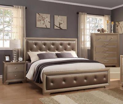 Crown Mark RB1700 Fontaine Queen Bedroom Set 2 Night Stands Contemporary Style