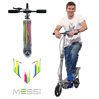 Leo Messi Space Scooter LM 580 Cityroller mit Wippen Antrieb 200mm Silber