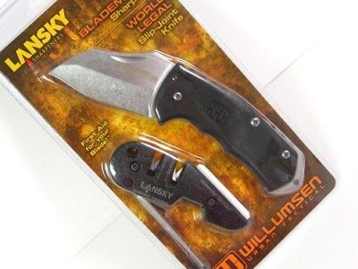 LANSKY World Legal Slip Joint Folder Knife + BLADEMEDIC Sharpener Combo! WRLDPAC