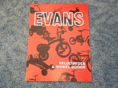 Vintage 1962 Evans Bicycle Tricycle Velocipedes & Wheel Goods Brochure Original