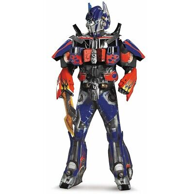 Optimus Prime Costume Adult Transformers Deluxe Theatrical Halloween Fancy Dress