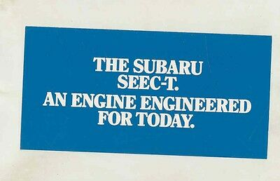 1977 Subaru SEEC-T Engine Brochure my6416