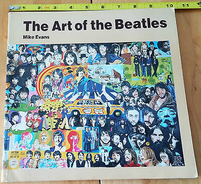 """""""The Art of the Beatles"""" Soft cover illustrated book by Mike Evans UK"""