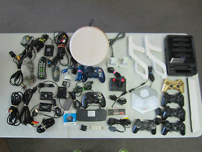 Lot of Video Game Controllers Accessories Parts Repair Defective Free Shipping!