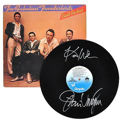 """The Fabulous Thunderbirds - Classic Rock Band - Autographed """"Butt Rockin"""" Record"""