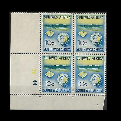 South West Africa 1961 Definitive 10c C/Block Wmk ARMS. MNH
