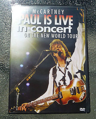 Paul McCartney PAUL IS LIVE IN CONCERT ON THE NEW WORLD TOUR DVD '93 '03 Sealed