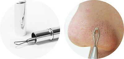 Stainless Steel| Blackhead| Acne| Spot| Pimple| Remover| Extractor Tool| Nose