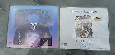 """George Harrison Promo CDs """"When we was fab"""" 3"""" + """"This is Love"""" 3"""" (4 songs ea.)"""