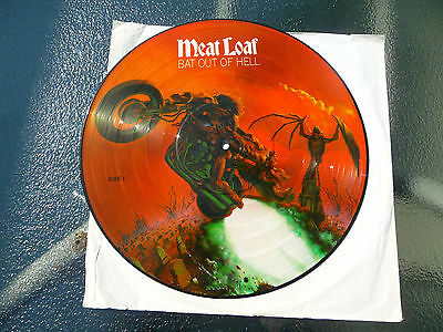 """Meat Loaf Picture Disc""""Bat out of Hell"""" 12""""LP 33Rpm.RARE"""
