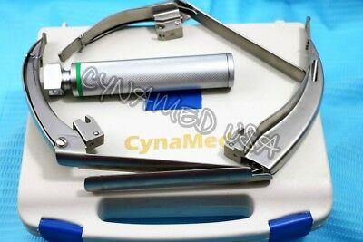 MCCOY FLEXI-TIP FIBEROPTIC LED Laryngoscope SET- BLADE # 1 &2 & 3 +HANDLE-GERMAN