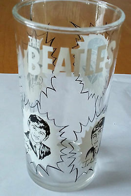 "The Beatles Drinking Glass Canadian Dairy Queen 1964 5"" 10 ounces RARE!!!"