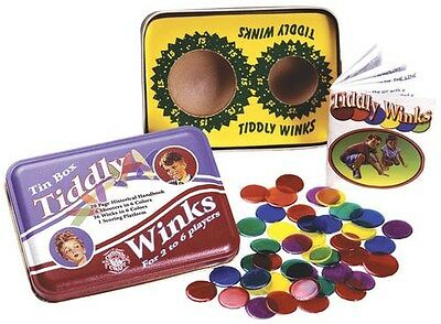 Tiddly Winks Classic Series Tin Game Made in the USA Channel Craft Tin Box TOYS