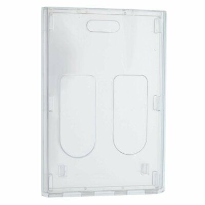 Clear Vertical Multiple Badge Holder - Top Loading Two Cards - by Specialist ID