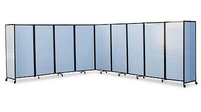 360 Acoustic Portable Room Divider (Polycarbonate) for Office, Home, Retail, ...