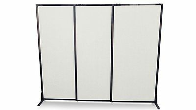 Afford-A-Wall Sliding Room Divider (Polycarbonate) for Office, Home, Retail, ...
