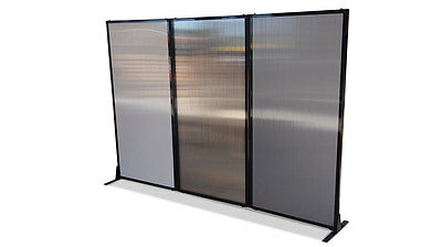 Afford-A-Wall Folding Room Divider (Polycarbonate) for Office, Home, Retail, ...