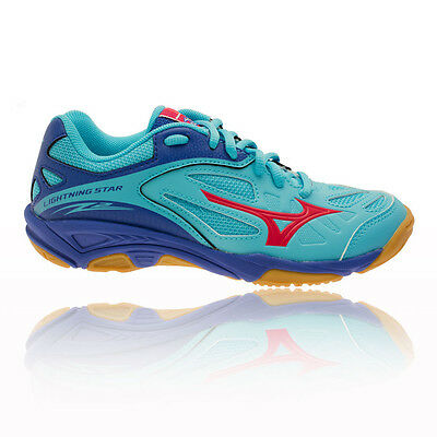 Mizuno Lightning Star Z2 Junior Blue Squash Indoor Court Shoes Trainers