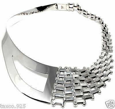 Taxco Mexican 925 Sterling Silver Sleek Chain Link Necklace Mexico