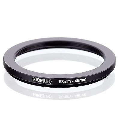 RISE(UK) 58-49MM 58 MM- 49 MM 58 to 49 Step Down Ring Filter Adapter