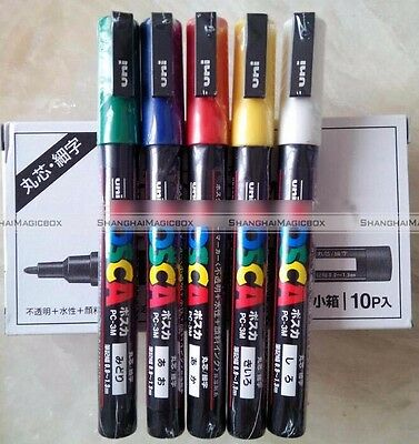 Queen Bee Marking Marker Pen Set 5 Color White Yellow Red Green Blue Bee Keeping