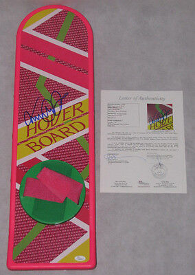 MICHAEL J FOX Hand Signed BACK TO THE FUTURE HOVERBOARD + JSA * BUY GENUINE *