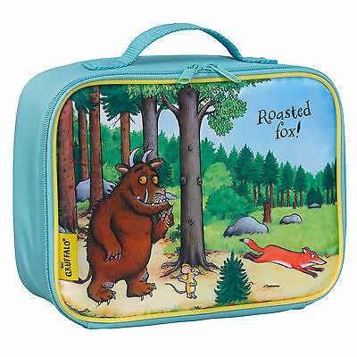 Gruffalo Fabric Lunch Pack Bag School Food Picnic Box Handle Secure Zip
