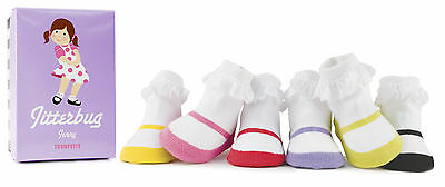 Trumpette Colourful Socks Jitterbug Jenny Set Of 6 Newborn Baby 0-12 Months