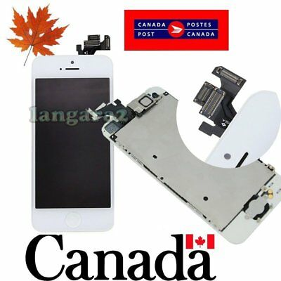 Replacement for iPhone 5 LCD Touch Screen Digitizer  Assembly with  button white