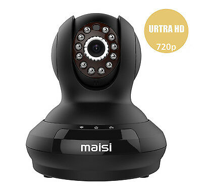 MAISI HD 720P WiFi Wireless IP Cam Recorder Security Indoor CCTV Camera System