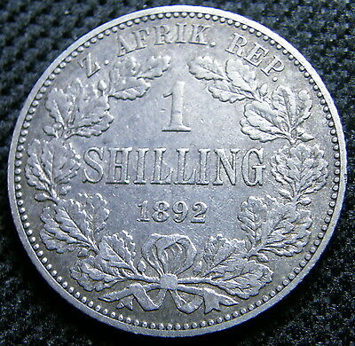 1892 South Africa, Silver Shilling Coin