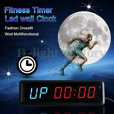 13.5inch Fitness Fashion  Multifunction Fitness Timer Led Wall Clock Mute Home