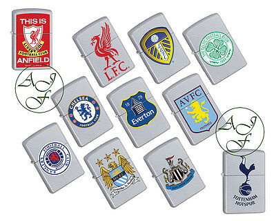 Personalised Engraved Premiership Football Official Zippo Cigarette Lighter