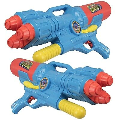 2 x Giant 60cm Three Triple Multi Nozzle Pump Action Water Gun Soaker Toy 922