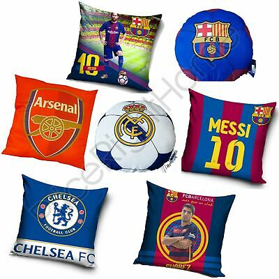 Football Team Official Cushions - Arsenal, Barcelona, Real Madrid, Chelsea New