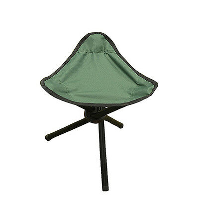 Outdoor Camping Hiking Fishing Picnic Portable Foldable Chair 3 Legs Stool Seat