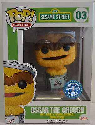 Sesame Street Oscar The Grouch Pop! Vinyl Figure  Underground Toys Exclusive