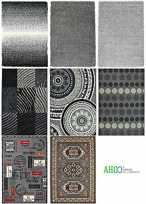 Grey Small X Large Soft Shaggy Modern Traditional Area Rug Quality Mat Carpet