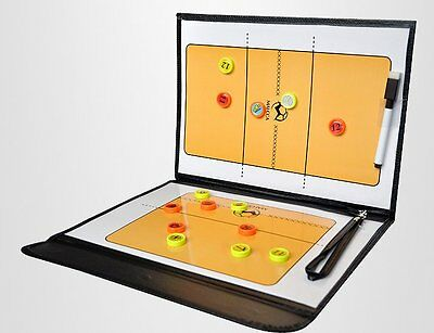 New Volleyball Coaching Board Foldable Coach Dry Erase Pen Magnet Marker FREE SH