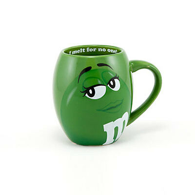 M&M's World Green Character Barrel Mug New